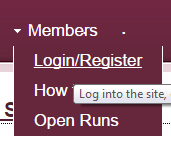 select login from the drop down menu